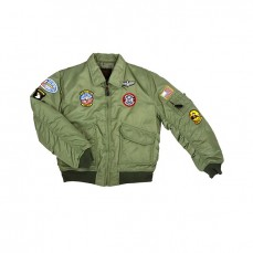Veste aviation enfant avec patchs
