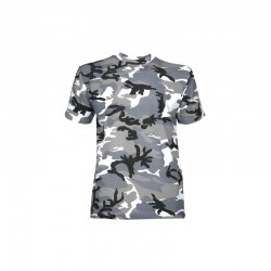 Tee-shirt camouflage urbain gris manches courtes